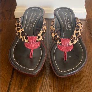 Donald J. Pliner leopard print sandals